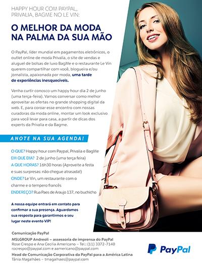 paypal convite blogueira